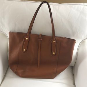 Annabel Ingall Tote with Zipper Cognac